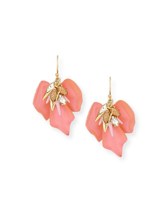 Floral Punk Orchid Drop Earrings