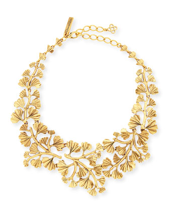 Gold-Plated Fern Necklace