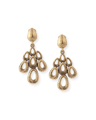 Teardrop Chandelier Clip Earrings