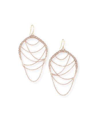 Rose Golden Draping Chain Earrings