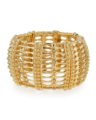 Wide Golden Stretch Bracelet