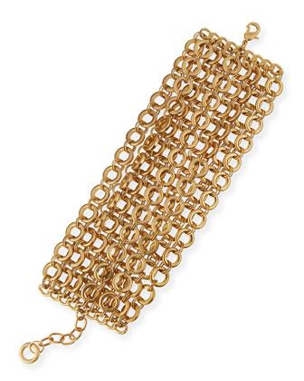 Matte Circle-Link Bracelet