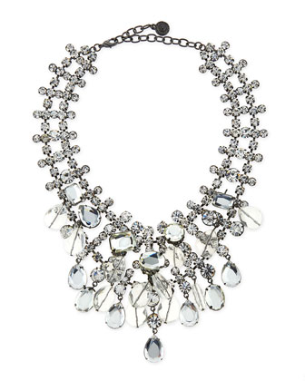 Beaded Crystal Statement Necklace