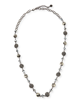 Long Crystal Bead Necklace