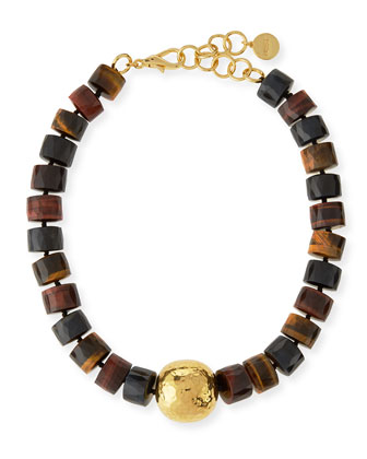 Tiger's Eye Statement Necklace