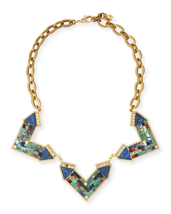 Petra Mosaic Statement Necklace