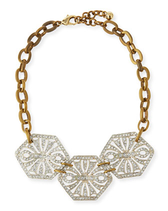 Atrium Crystal Statement Necklace