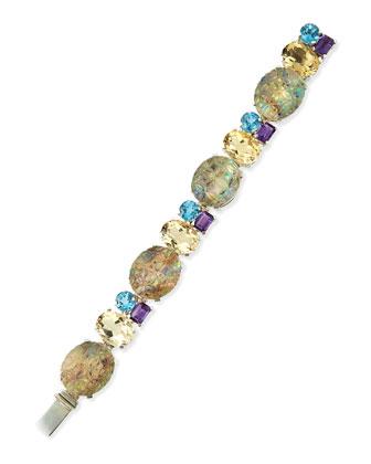Carved Abalone Link Bracelet, 7