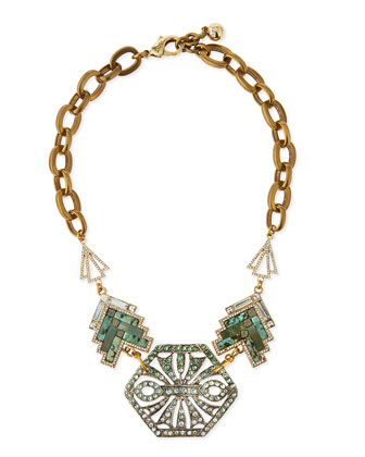 Ortiga Mosaic Statement Necklace