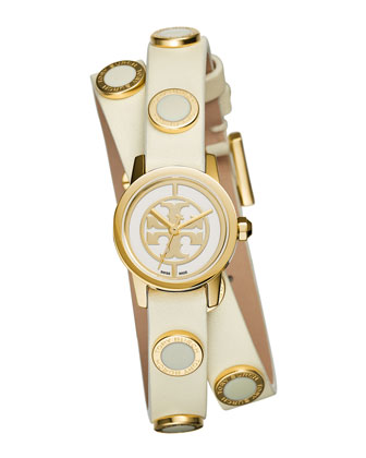 Reva Mini Double-Wrap Leather Watch
