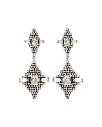 Faith Crystal Drop Earrings