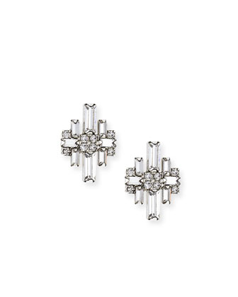 Talia Crystal Stud Earrings
