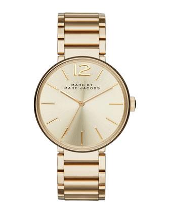 36mm Golden Sunray Dial Watch