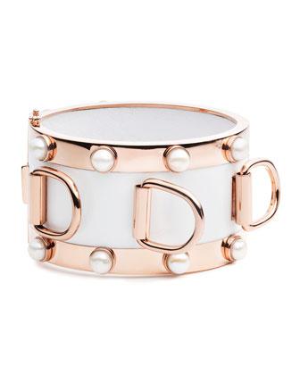 D-Ring Pearl Cuff Bracelet