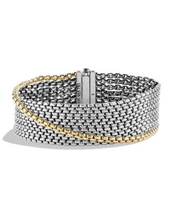 Chain Eight-Row Bracelet with Gold