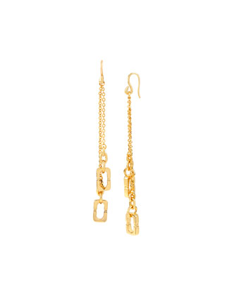 Linear Chain Link Drop Earrings