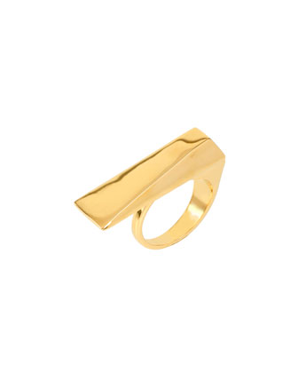 Gold-Plated Geometric Ring, Size 7