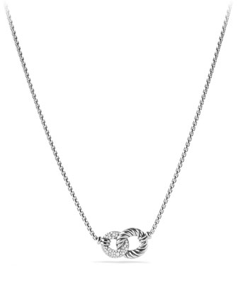 Belmont Double Link Necklace with Diamonds