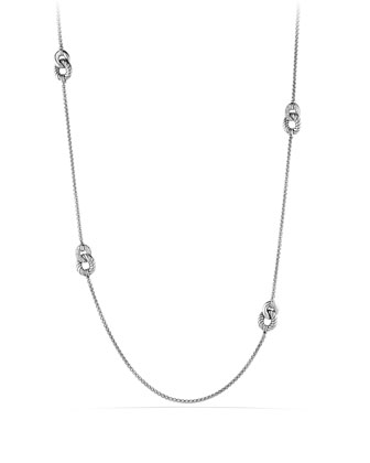 Belmont Curb Link Necklace with Diamonds