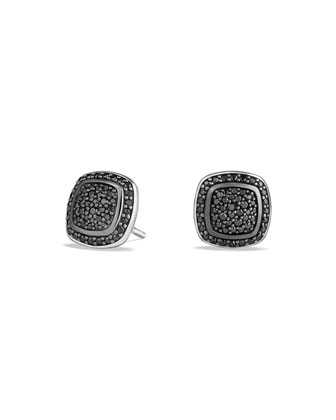 Albion Earrings with Black Diamonds, 7mm
