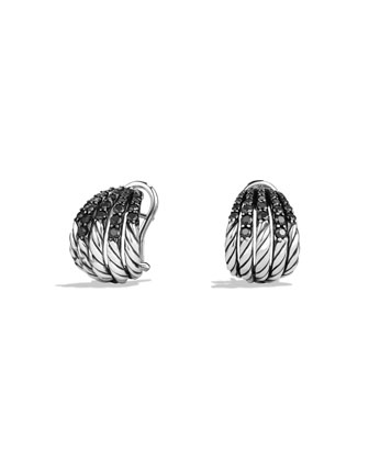 Tempo Black Spinel Huggie Earrings