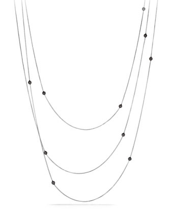 Bead Necklace with Black Diamonds, 72
