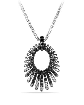 34mm Tempo Black Spinel Pendant Necklace