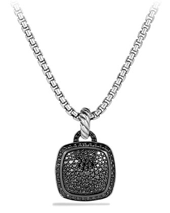 Pendant with Black Diamonds, 14mm