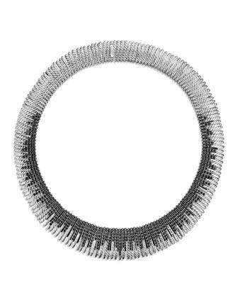 16mm Tempo Rhodium Black Spinel Necklace