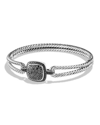 Bracelet with Black Diamonds, 11mm