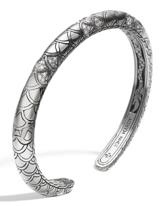 Naga Pave Diamond Slim Kick Cuff