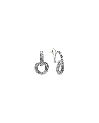 Caviar Textured Circle Earrings