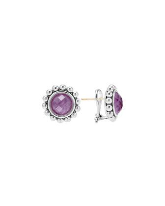 Maya Charoite Round Stud Earrings