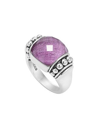 Maya Silver Charoite Dome Ring