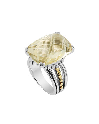 Prism Champagne Quartz Ring, Size 7