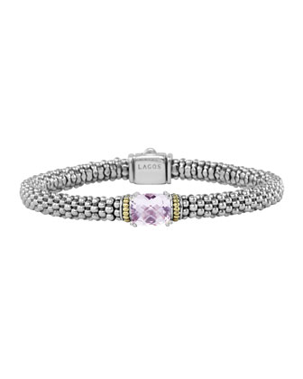 Prism Rose de France Caviar Bracelet, 6mm