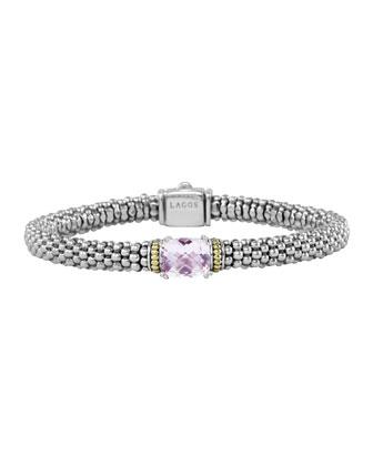 Prism Rose de France Caviar Bracelet, 6mm