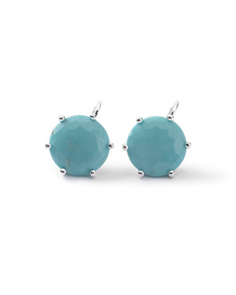 Silver Rock Candy Large Stud Earrings in Turquoise