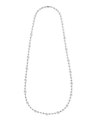 Silver Rock Candy Multi-Stone Necklace in Clear Quartz, 40