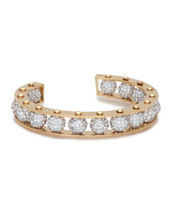 Rived Crystal Cuff Bracelet