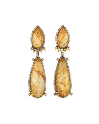 Jasper Crystal Drop Earrings