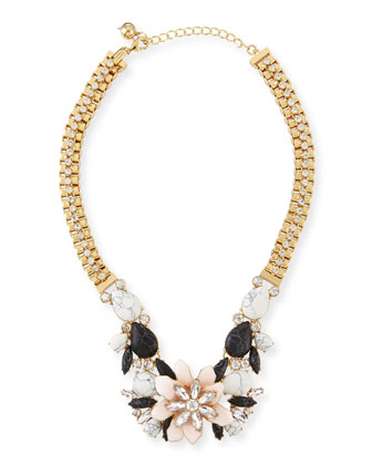 glossy petals statement necklace