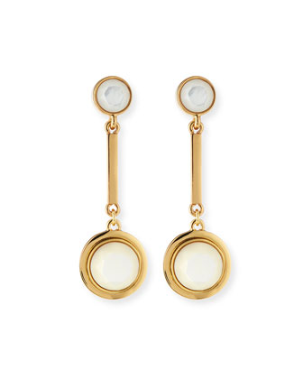 polish up mother-of-pearl drop earrings