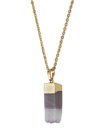 Dipped Stone Pendant Necklace