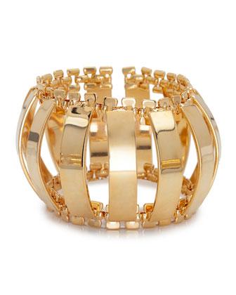 Caterpillar Gold-Plated Cuff Bracelet