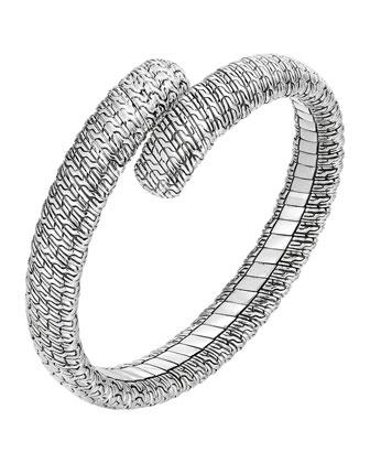 Classic Chain Silver Single Coil Bracelet, Size M