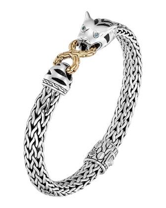Classic Chain Silver & 18k Medium Macan Bracelet