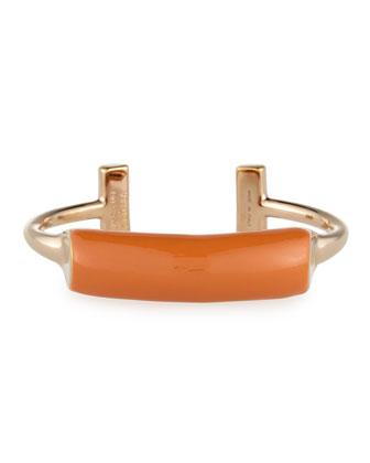 Lauren Enamel Bar Cuff Bracelet