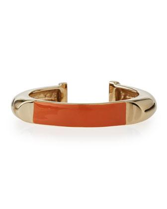 Charlotte Enamel Cuff Bracelet
