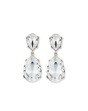Double Teardrop Dangle Earrings